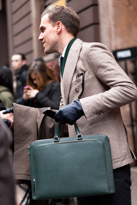 details:    Street Style: Milan Fashion Week, Menswear Fall 2013