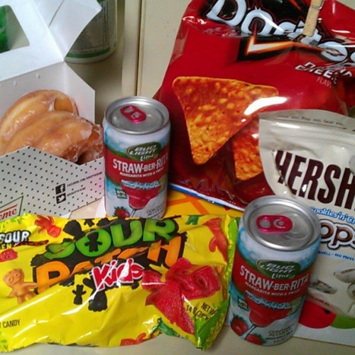 Damn #JunkFood. I got the #Munchies. And no, I dont smoke.  #Doritos #HersheyDrops #Strawberrita  #Doritos #KrispyKreme #Doughnuts