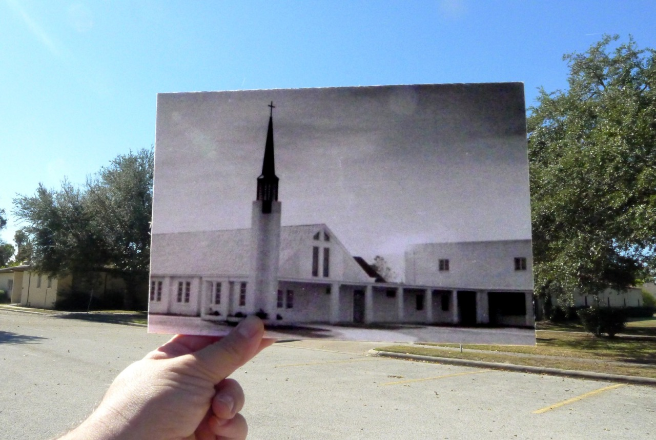 First Christian Church201 N. Forrest Street. Shown here in 1952, it's still operating since it opened with the same name.