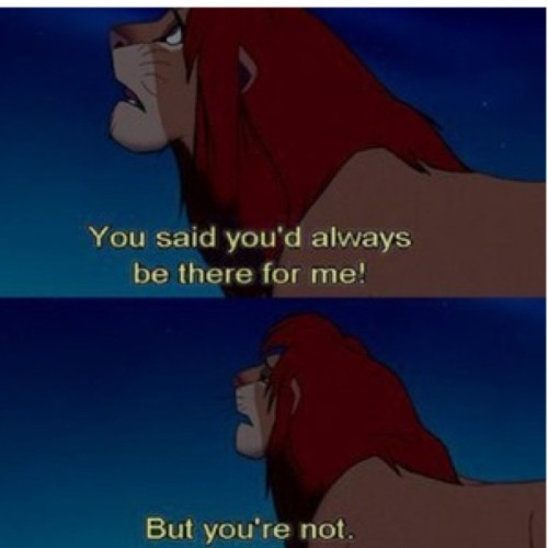 This movie#lionking#Disney#sad#sayingyouwillbethere#butarnt