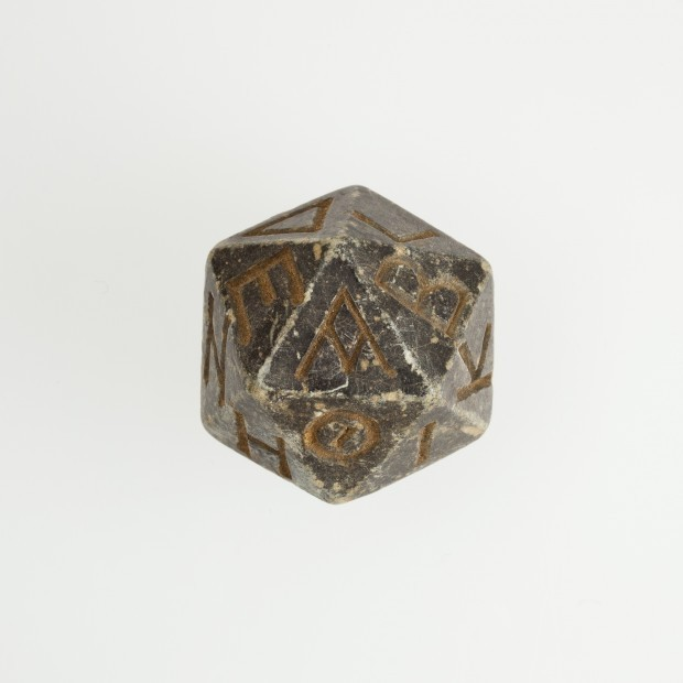 lostsplendor:  20 Sided Die: Egyptian, Between 200 BC and 400 AD (via Retronaut - Egyptian Twenty-sided Die)