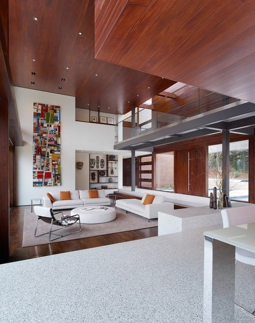 cabbagerose:  Modern two-storey single family residence designed by Swatt | Miers Architects situated in Silicon Valley, California via: stefanoandrighetto