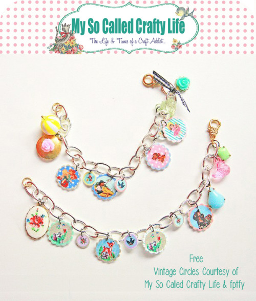DIY Shrink Plastic Vintage Bracelet Tutorial and Free Pintables from My So Called Crafty Life and Free Pretty Things for You here. There are so many good tips for working with shrink plastic at the link. First seen at inspiration & realisation's Facebook page. For more shrink plastic DIYs go here: truebluemeandyou.tumblr.com/tagged/shrink-plastic