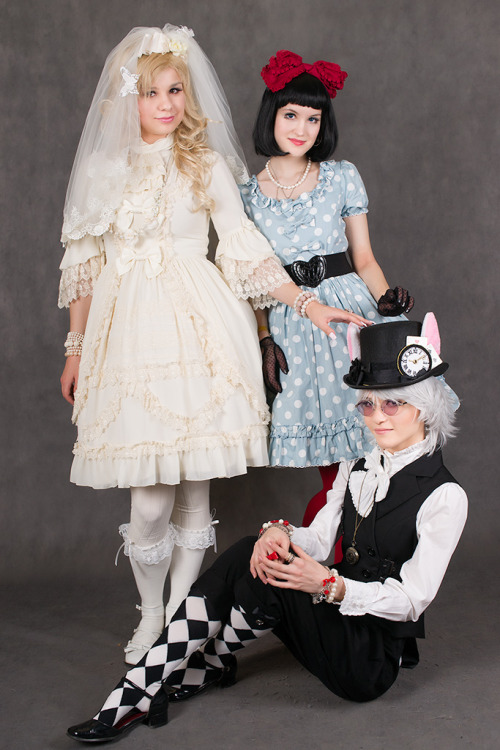 me (White Rabbit), Iruka (Cinderella) and Tasha (Snow White) Gothic&Lolita Festival 2012 photo by Eliseev