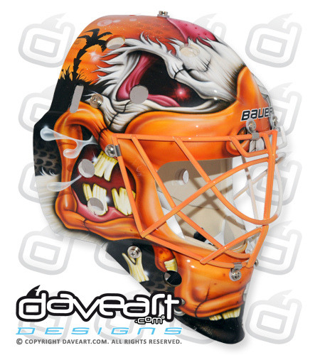 Viktor Fasth of the Anaheim Ducks 2013 Mask | 4 • Goalie ...