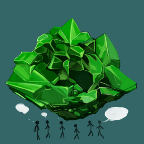 I wonder if sims combined their green crystals would look like this