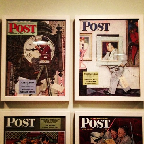 Spending the day at Norman's.  (at Norman Rockwell Museum)