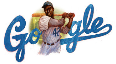 Google doodle celebrates Jackie Robinson's 94th birthday