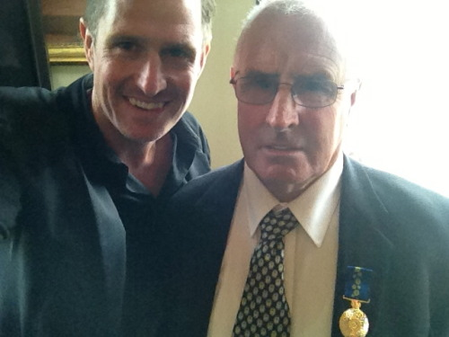 Dad and I on the day he was presented with his Order Of Australia medal.