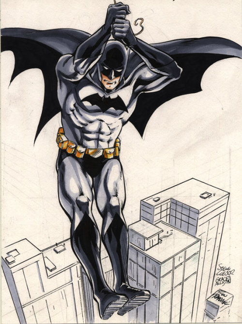 Batman color sketch by @steve_lieber @ron_randall & @greyallison. The original might still be available in our Etsy store.