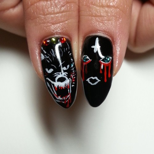 Pt two @death_0r_glory #wolf #evil #nail #nails #nailart