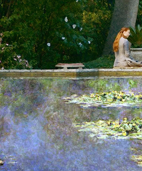 A Game of Art: Sansa Stark + Monet's Water Lilies