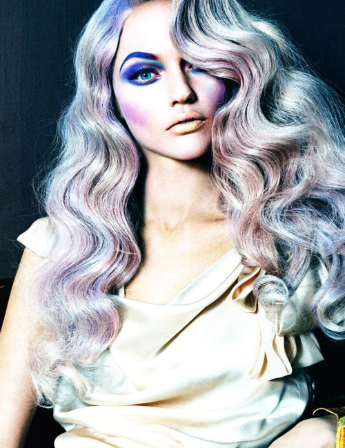 """love is in the hair"": sasha pivovarova for vogue italia may 2010"