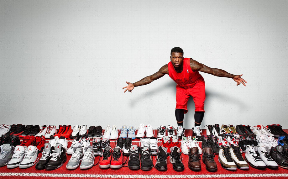 howtotalktogirlsatparties:  Nate Robinson's Jordan collection.
