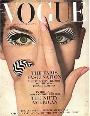 A vintage Vogue cover via My Luscious Life.