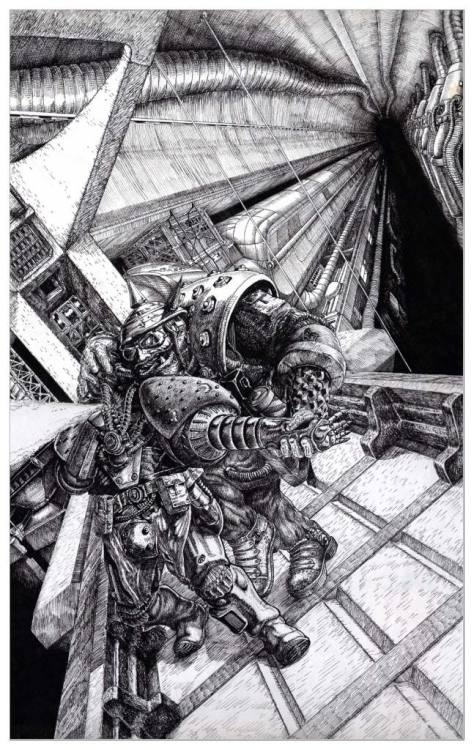 From Warhammer 40,000 - Rogue Trader. Tony Hough, 1987.