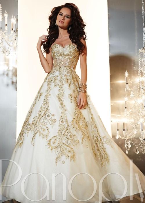 Sheer prom dress tumblr for Gold vintage wedding dresses