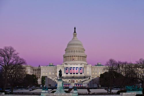 Just after sunset at the U.S. Capitol Building (Photo: Anthony Quintano / NBC News)
