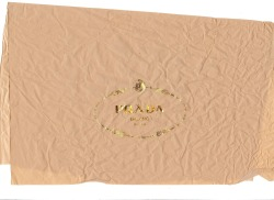Prada shoe box tissue