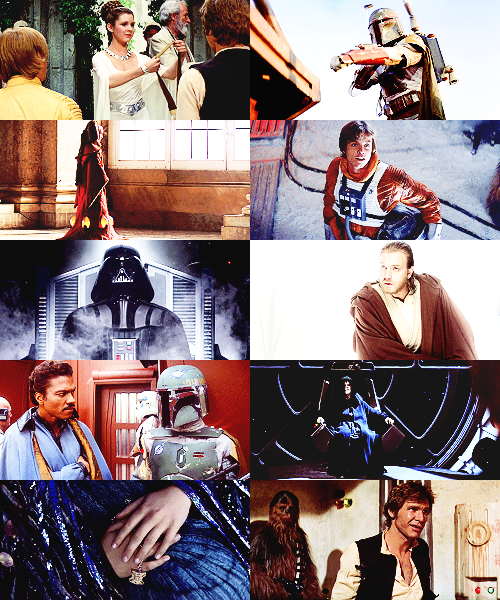 drunkdarthplagueis:  Screencap Meme - Star Wars: Dress Me Up (Various costumes)