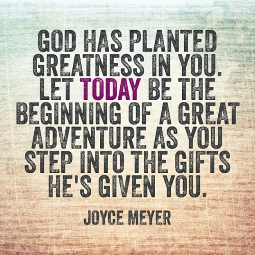 spiritualinspiration:  Broken And Poured Out by Joyce Meyer  Be willing to give your best to the Lord, and He will use your gifts in ways beyond your imagination. The lady with the alabaster jar of perfume that was worth a year's wages wanted to do something for Jesus because she loved Him. So she poured out the expensive perfume on Him, not realizing at the time that she was anointing Him for His burial (see Mark 14:1- 9).  God led her to give what she had, no matter how costly. As you pour out the gifts God has given you, He will use them to prepare the world for the second coming of His son. Your obedience today will reap rewards in heaven that you are not aware of now.