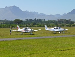 Stellenbosch (FASH), probably one of the most beautiful airfields in South Africa.