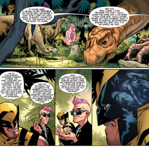 Preach it Quentin. (From the preview of Wolverine and the X-men #25 by Jason Aaron and Ramon Perez.)