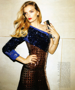 Lily Donaldson in Louis Vuitton, photographed by Terry Richardson for Harper's Bazaar US December/January 2013.