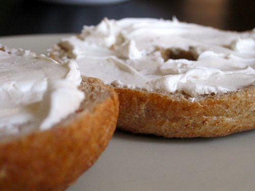 Is there anything more comforting than a toasted bagel and cream cheese? YUM.