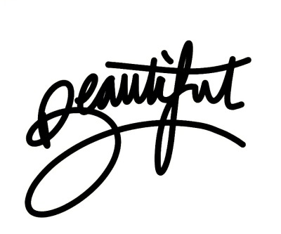 I think 'Beautiful' is my favourite word to write. Something about the lettering.
