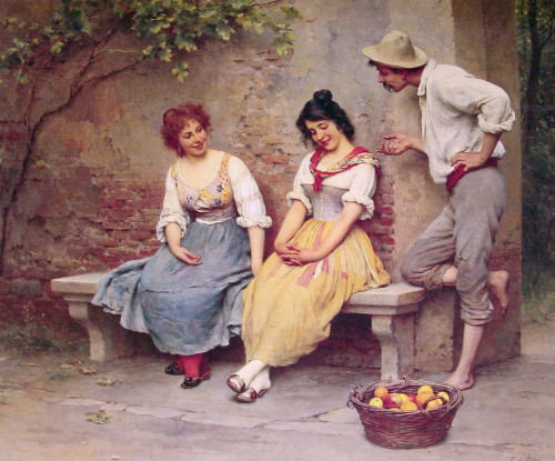 pnume:  Eugene de Blaas - The Flirtation  1904