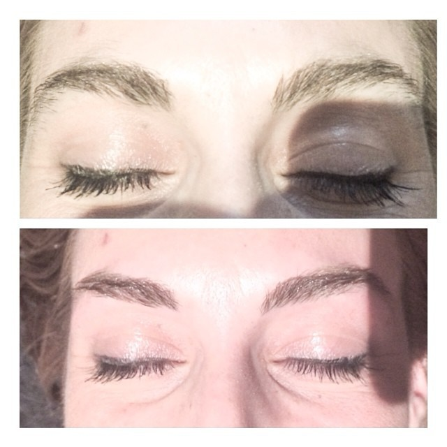 Before and after hd brows with me …. #jadesbrowbar #eyebrows #hdbrows #melbourne #beauty #browbar #browshaping #eyebrows #threadi