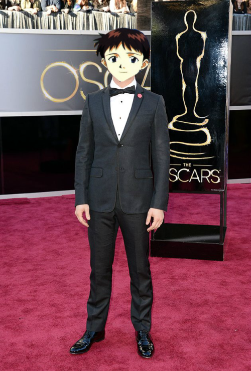 wheelcher2:  Shinji Ikari arrives at the Oscars