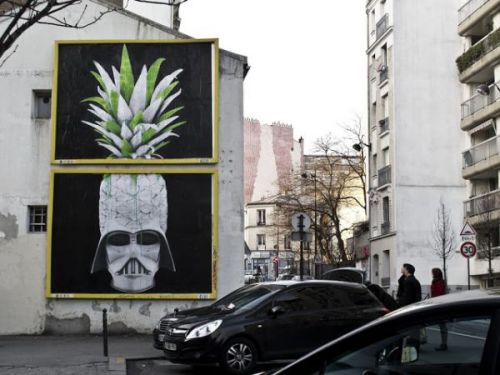Super cool street art in Paris by Ludo