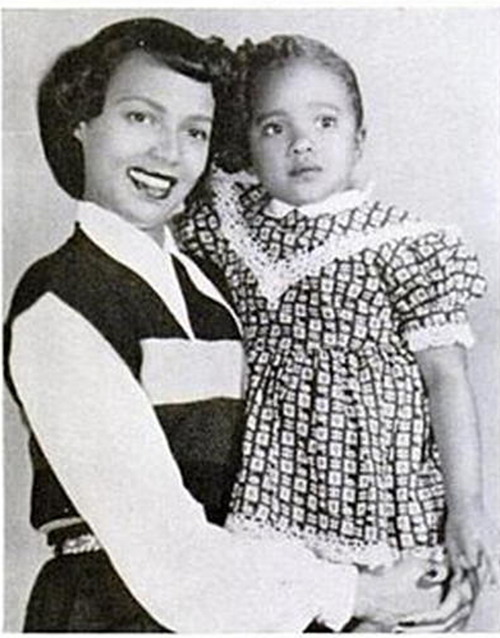 "Dorothy Dandridge with daughter Harolynn aka ""Lynn""."