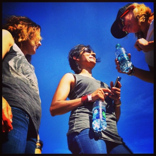 My friends at Bottlerock #napan #festival #sky #blue #friends #bottlerock