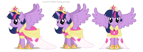 Some quick angles of my Princess Sparkle animation model. I'll work on it more when the episode comes out. Maybe. Also, I think she looks cute and completely accept this new look.