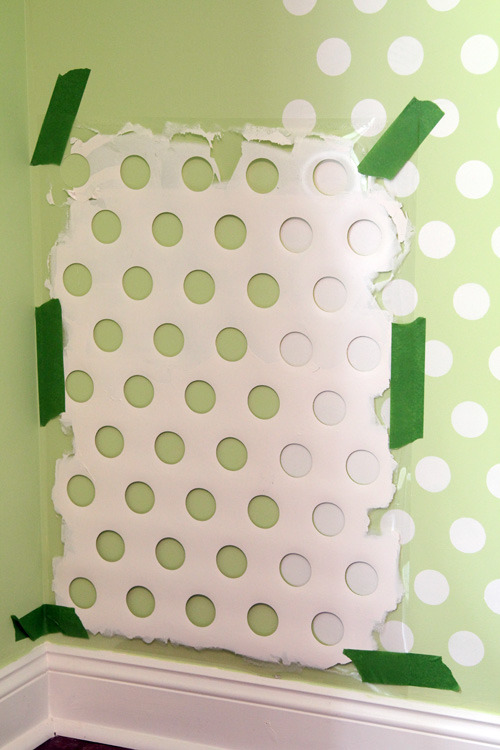 DIY polka dot wall