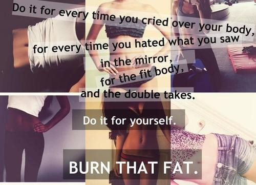 "exilethepoet:  loosingstones:  Healthy weightloss motivation blog which follows back and answers all questions :) You're not alone, let's do this.. together!  I like that it says ""burn fat"". I applaud this person for that."