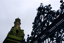 Holyrood Palace gate, Edinburgh, end of Royal Mile
