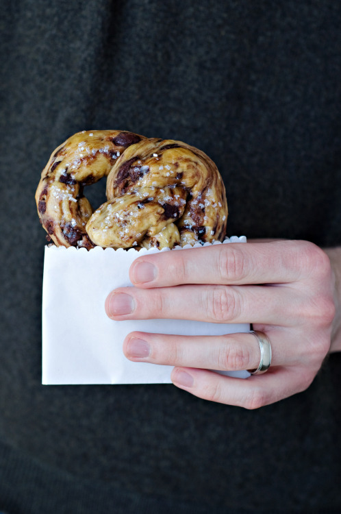 Chocolate chip Brioche Pretzels mmm…it's too good to be true via Cook Like a Champion
