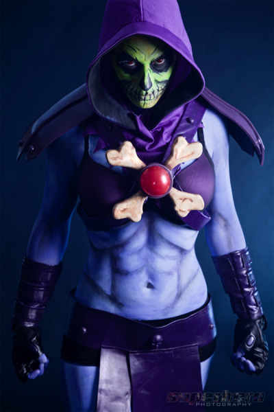 Lady Skeletor | photo by MrAdamJay; modeled by Freddie Nova; bodypaint by Janie Walland  {via omg-dj-judy}