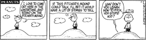 3eanuts:  February 5, 1988 — see The Complete Peanuts 1967-1970  Metaphor for life?