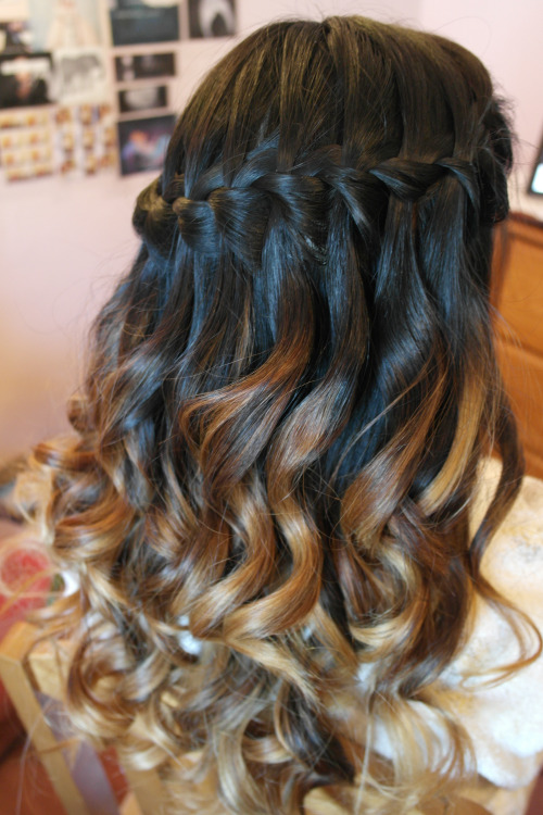 Friend's hair for prom!