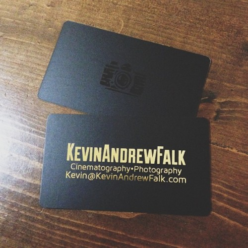 Finally made some new biz cards w/ #goldfoil and #spotuv #camera on the back. I think they cam out good! #businesscard #businesscards