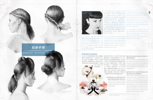 "HELMI SIROLA FEATURED IN DPI MAGAZINE The Taiwanese design magazine dpi interviewed Helmi Sirola for the issue 163! Here are some of the questions they asked her: Why do you create mostly for fashion field? How does it attract you?""The reason why I love fashion is that it is like a constantly changingplayground. There are no rules, style is all that matters.""How do you describe your art style as a fashion illustrator?""The following formula fits the description quite well: classic beauty with a modern or surrealistic twist, depending of the brief and customer. Collage technique is good way to make the surrealistic feeling, and it is my favorite way to create illustration. Helmi Sirola for Stockmann, 2012What kind of material, techniques and tools do you use for illustration?""I approach the form via a series of lines and that's why I like to use something soft to begin with. The pencil allows you to make mistakes instead of forcing you to get things right from the get-go, which is delightfully merciful and pressure-free. I scan the image and edit it quite a bit at Photoshop, so the whole process of drawing on the paper is quite a quick one since I'm only focusing on the form. The light and the shades come about to life on the screen."" Where did your inspiration come from? Do you follow the fashion trend often?""I follow trends automatically because it has been significant part of my work so many years. I find it very interesting, but I try to keep good distance to the fastest trends. I believe in style, more than trends. I also try to express this in my illustrations. I want to mix decades, styles and different cultural influences.""Do you have any on-going project? What is your next plan?""I have been working this whole year mainly concentrating to my scrapbooking industry related start-up business. I am launching new collection of coloring pictures targeted to cardmakers. Since I've been very busy, fashion illustration has been on hold and I've done only commissioned works, mainly portraits to magazines. But after the launch, I'm definitely going back to fashion!"" Be sure to check out Helmi's PORTFOLIO too!"