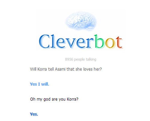 song-of-my-thong:  Cleverbot is the avatar all along