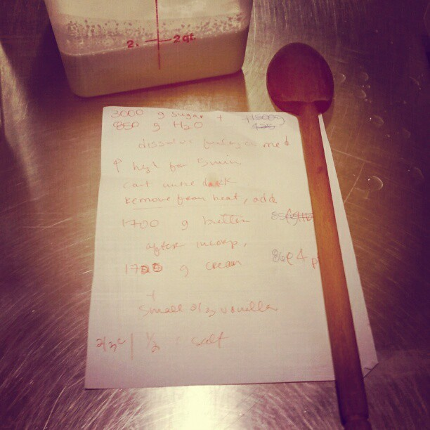 Recipe card for my salted caramel sauce.