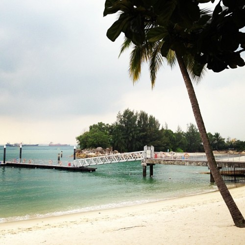 Who knew #singapore had a beach #sentosa #siloso #singapore #travel