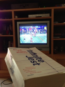 Infinite Jest watching Superbowl XLVII (in Australia)